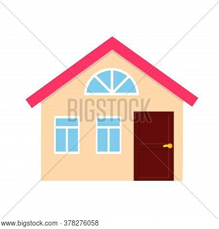 House, Cottage, Townhouse Icon. Simple Vector Clip Art