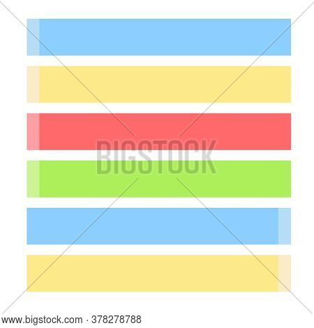 Sticky Note Papers. Memo Stickers Blank Collection