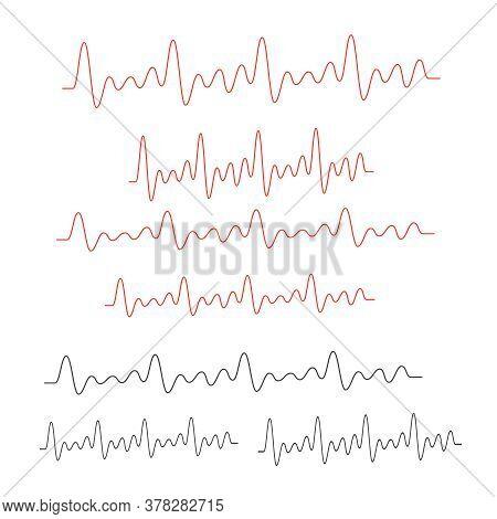 Line Vector Electrocardiogram. Heartbeat Medical Line Cardiogram