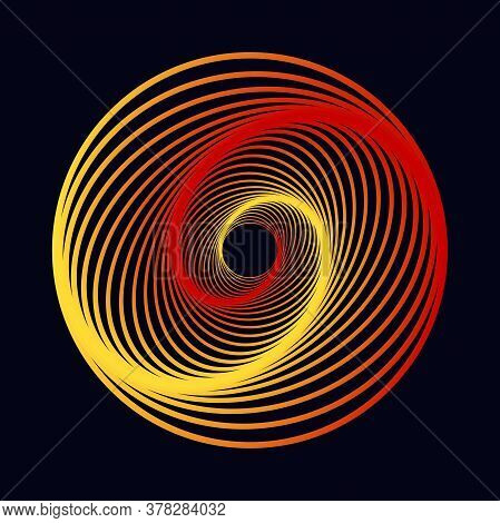 Vector Colored Spiral. Twisted Colored Tunnel 3d. Colorful Vector Illustration