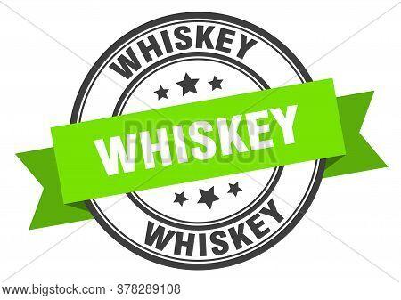 Whiskey Label. Whiskeyround Band Sign. Whiskey Stamp