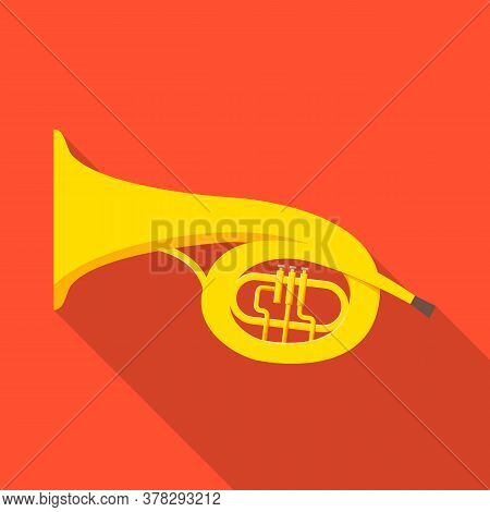 Vector Design Of Bugle And Trumpet Symbol. Graphic Of Bugle And Wind Vector Icon For Stock.