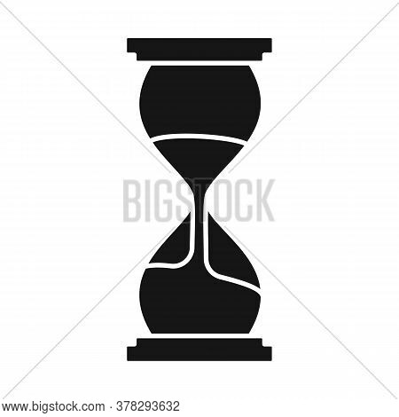 Isolated Object Of Timepieces And Sandglass Icon. Web Element Of Timepieces And Minute Stock Vector