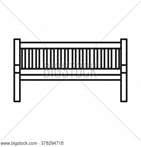 Vector Design Of Bench And Furniture Logo. Web Element Of Bench And Seat Stock Vector Illustration.