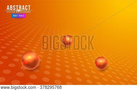 Abstract Geometry Orange Background. Modern Abstract Geometry Background. Graphic Design Element