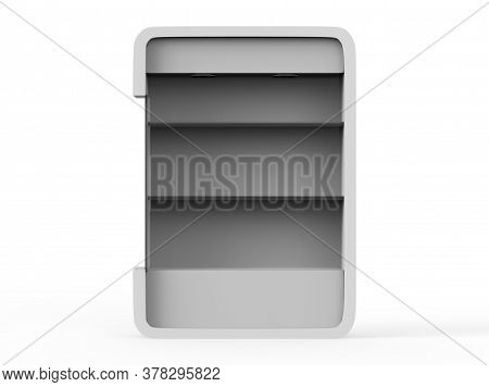 Display Stand, Retail Display Stand For Product , Display Stands Isolated On White Background. 3d Il