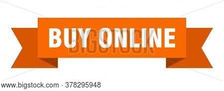 Buy Online Ribbon. Buy Online Isolated Band Sign. Buy Online Banner