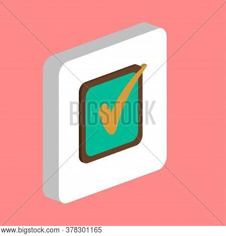 Checklist Simple Vector Icon. Illustration Symbol Design Template For Web Mobile Ui Element. Perfect