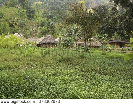 Small Native Village At The Sierra Nevada De Santa Marta In Colombia
