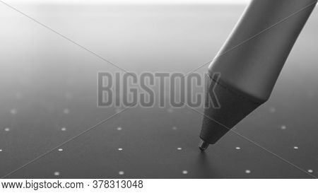 Pen Or Stylus Of An Electronic Graphics Tablet.