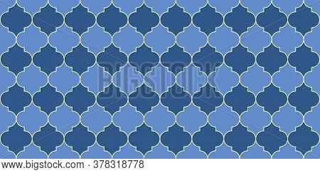 Ramadan Kareem Islamic Illustration. Moroccan Seamless Pattern Turkish Mosque Window Shape. Traditio