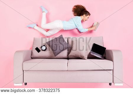 Top View Above High Angle Flat Lay Flatlay Lie Concept Of Her She Nice Attractive Cheery Amazed Stun