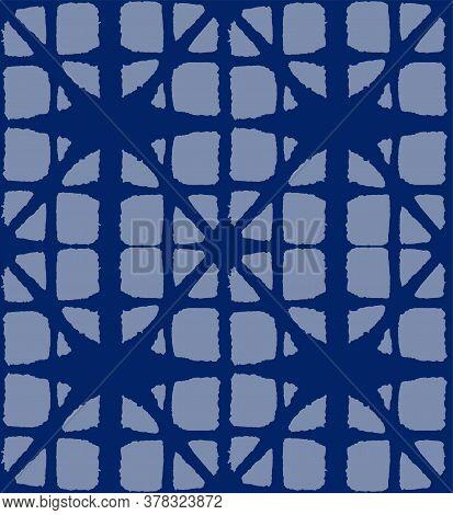 Japanese Tie Dye Seamless Pattern. Artistic Shibori Seamless Pattern. Bohemian Kimono Fabric. Geo Sh