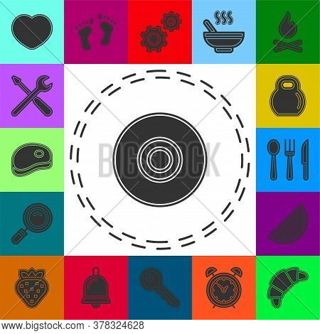 Download Dvd Button - Media Or Music Player - Multimedia Icon Vector. Flat Pictogram - Simple Icon