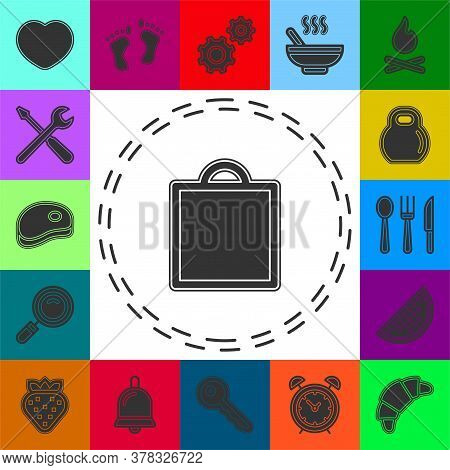 Shopping Icon, Vector Fashion Bag Illustration Isolated - Mall Store Sale. Flat Pictogram - Simple I