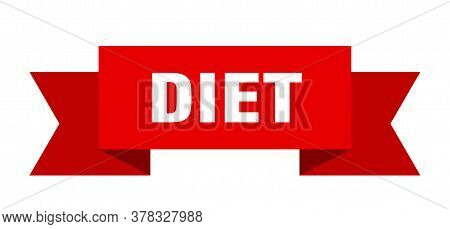 Diet Ribbon. Diet Isolated Band Sign. Diet Banner