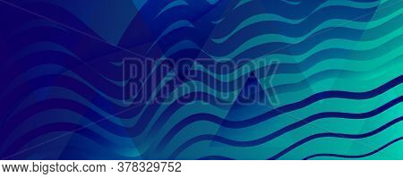 Blue Dynamic Wave. Fluid Abstract Stripes. Vector Gradient Shape. Dynamic Wave. Vibrant Banner. Flow