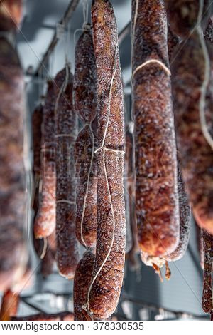 Salami In Warehouse, Using A Mold Culture To Get The Process Started Can Keep Your Meat Healthy