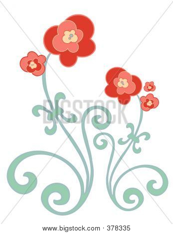 Red And Gold Flowers