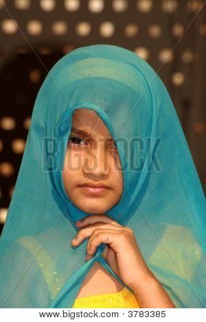 traditionelle muslimisches Mädchen