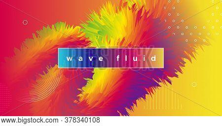 Fluid Dynamics. 3d Design. Vibrant Background. Liquid Creative Shape. Abstract Motion. Fluid Dynamic