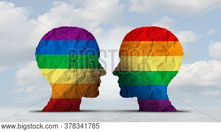 Lgbtq People Concept As An Equal Rights And Sexual Diversity Symbol For Lesbian Transgender Bisexual