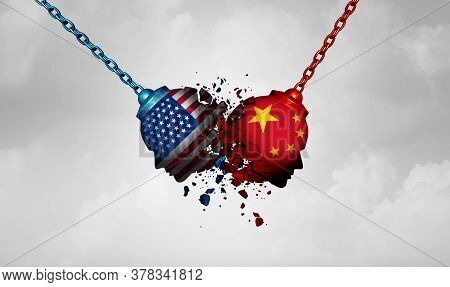 United States China Dispute Concept As An International Rivalry Between Two Governments As A Struggl