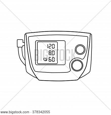 Tonometer In Vector.logo Tonometer Vector Illustration.device For Measuring Pressure In The Vector.