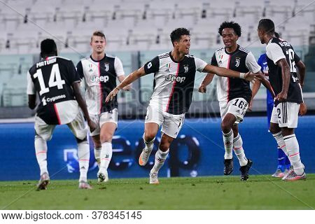 Torino (italy) 26th July 2020. Italian Serie A. Juventus Fc Vs Uc Sampdoria. Cristiano Ronaldo Of Ju