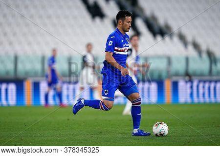 Torino (italy) 26th July 2020. Italian Serie A. Juventus Fc Vs Uc Sampdoria. Maya Yoshida Of Uc Samp