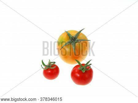 Sweet Grape Tomato Isolated On White Background