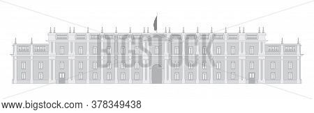 Vector Graphic Of The Chilean Presidential Palace La Moneda In Santiago