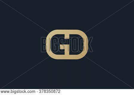 GD . GD logo . GD design . GD vector . GD images . GD logo design . GD vector . abstract GD logo . Letter GD logo . abstract letter GD logo design . vector illustration