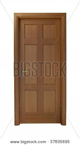 Old-fashioned Wooden Door