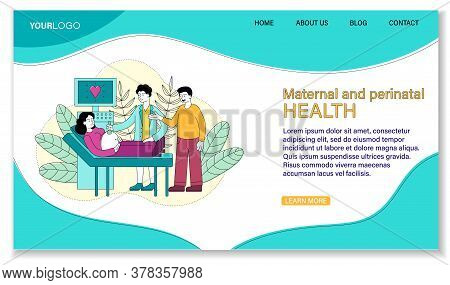 Maternal And Prenatal Health Concept Showing A Young Pregnant Woman Having A Ultrasound Procedure In