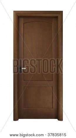 Dark Brown Wooden Door