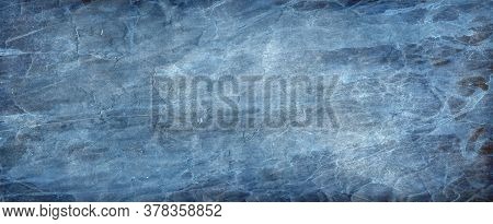 Solid Blue Background With Dark Elegant Border And Rich Deep Colors With Faint Vintage Texture And L
