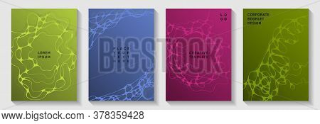 Chic Dj Party Posters. Smooth Waves Fusion Backdrops. Futuristic Title Page Vector Templates. Night