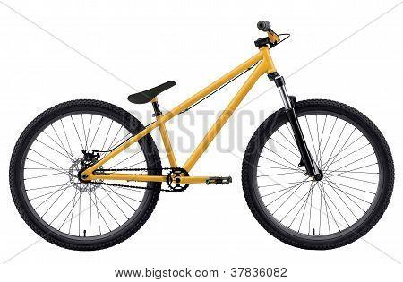 gelbes Fahrrad