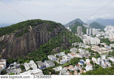 Rio De Janeiro; Brazil - February, 12, 2019: View Over City Of Rio De Janeiro From Sugarloaf Mountai
