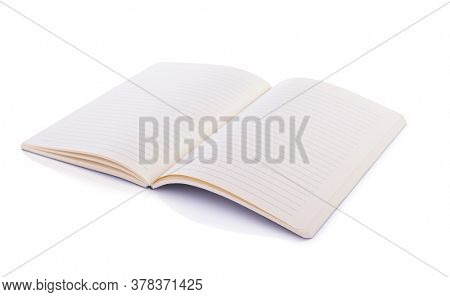 notepad or notebook paper isolated at white background