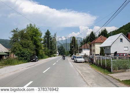 The Rural Houses By The Road In Montenegro