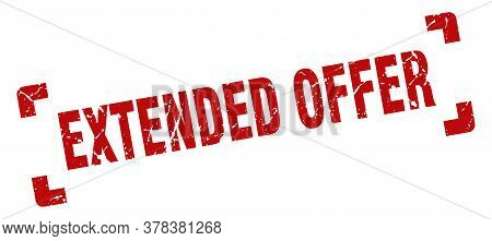 Extended Offer Stamp. Extended Offer Square Grunge Sign. Extended Offer