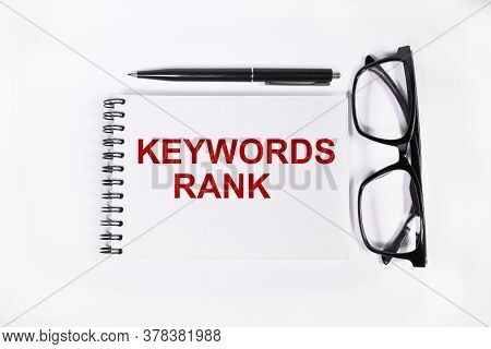 Keywords Rank. Business Concept Text On A White Background