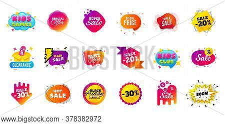 Sale Banner Tags. Discount Price Badge. Promotion Coupon Templates. Black Friday Shopping Icons. Bes