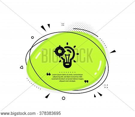 Seo Idea Icon. Quote Speech Bubble. Web Targeting Sign. Traffic Management Symbol. Quotation Marks.