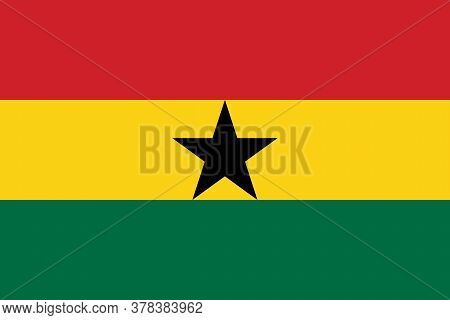 Ghana National Flag Graphics Design. Tours And Travel Backgrounds.