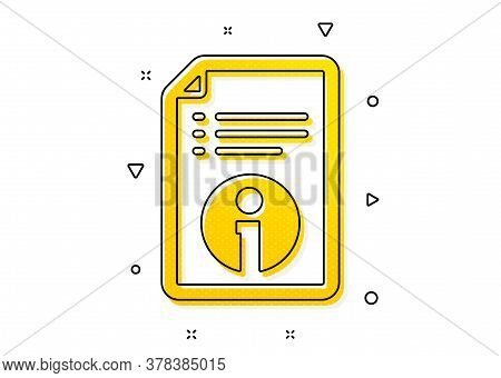 Instruction Sign. Technical Information Icon. Yellow Circles Pattern. Classic Technical Info Icon. G