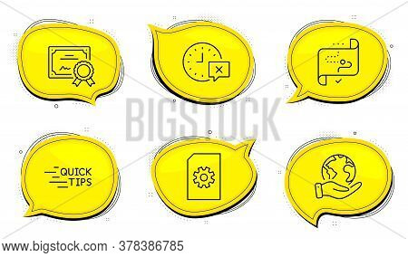 Time Sign. Diploma Certificate, Save Planet Chat Bubbles. Education, File Management And Target Path