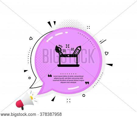 Creativity Concept Icon. Quote Speech Bubble. Graphic Designer Sign. Brush And Pencil Symbol. Quotat